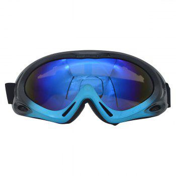 Dustproof Anti Fog UV Protection Riding Goggles - BLUE AND BLACK BLUE/BLACK