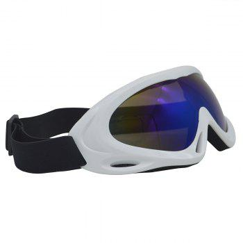 Dustproof Anti Fog UV Protection Riding Goggles -  WHITE