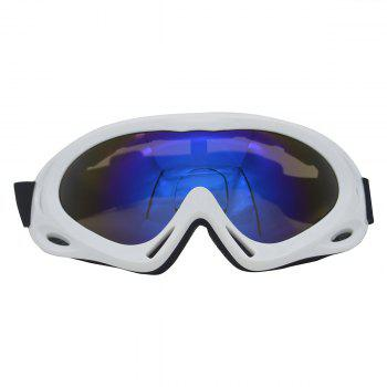 Dustproof Anti Fog UV Protection Riding Goggles - WHITE WHITE