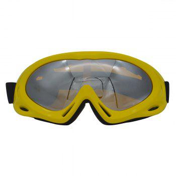 Dustproof Anti Fog UV Protection Riding Goggles - YELLOW YELLOW