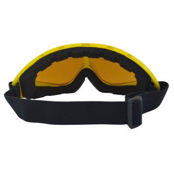 Dustproof Anti Fog UV Protection Riding Goggles -  YELLOW