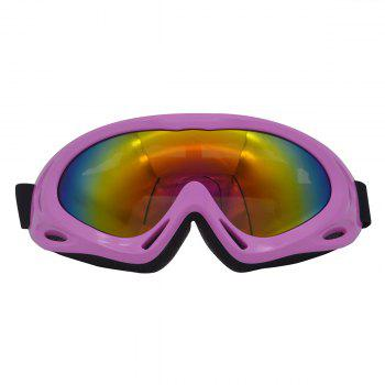 Dustproof Anti Fog UV Protection Riding Goggles - PINK PINK