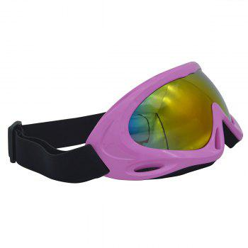 Dustproof Anti Fog UV Protection Riding Goggles -  PINK