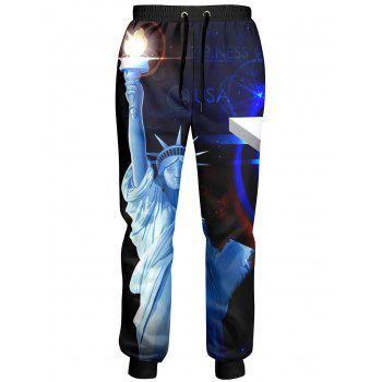Statue of Liberty American Flag Drawstring Joggers