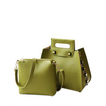 Crossbody Bag and Studded Handbag - GREEN GREEN