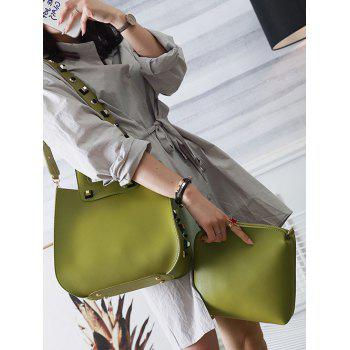 Crossbody Bag and Studded Handbag -  GREEN