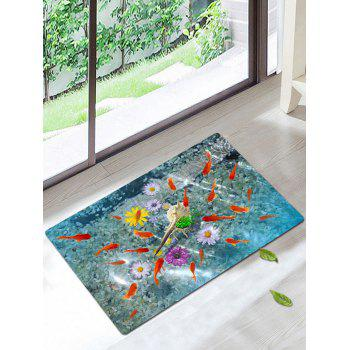 3D Fish Floral Coral Fleece Antiskid Rug