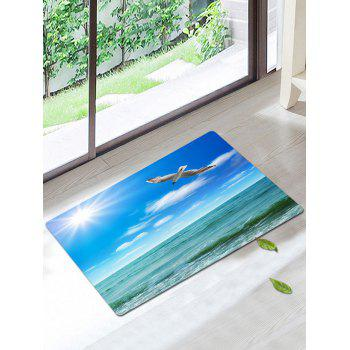 Seascape Bird Skidproof Water Absorption Rug