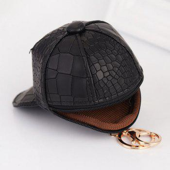 Snake Printing Baseball Hat Coin Purse Key Chain -  CADETBLUE