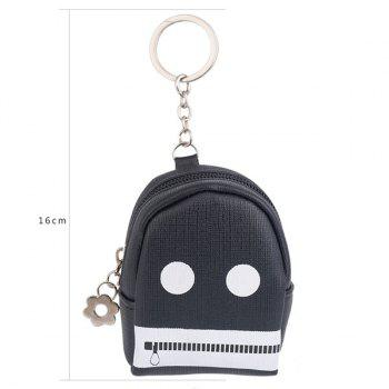 Funny Coin Purse Zipper Key Chain - Noir