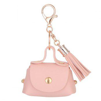 Artificial Leather Coin Purse Tassel Key Chain - PINK PINK