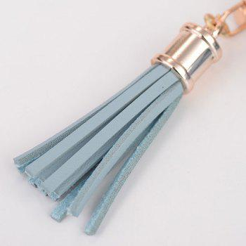Artificial Leather Coin Purse Tassel Key Chain -  LIGHT BLUE