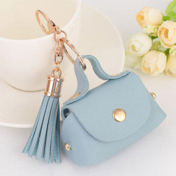 Artificial Leather Coin Purse Tassel Key Chain