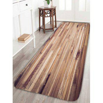 Wood Grain Pattern Antiskid Bath Rug