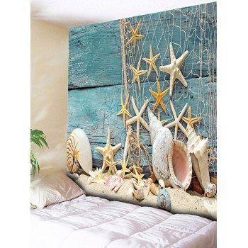 Wall Hanging Starfish 3D Print Rectangle Tapestry - BLUE GREEN W51 INCH * L59 INCH