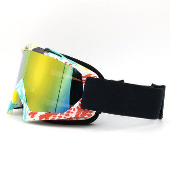 UV Protection Dustproof Off Road Riding Goggles - COFFEE/YELLOW