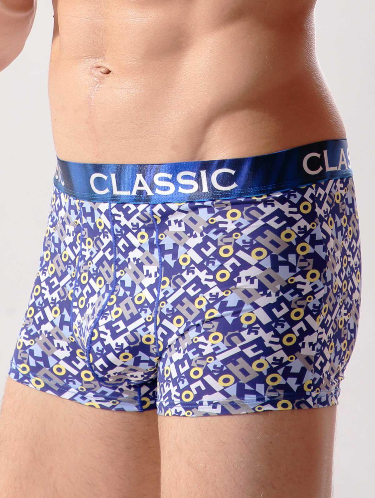 Contour Pouch Eyelet Print Swimming Trunks - COLORMIX XL