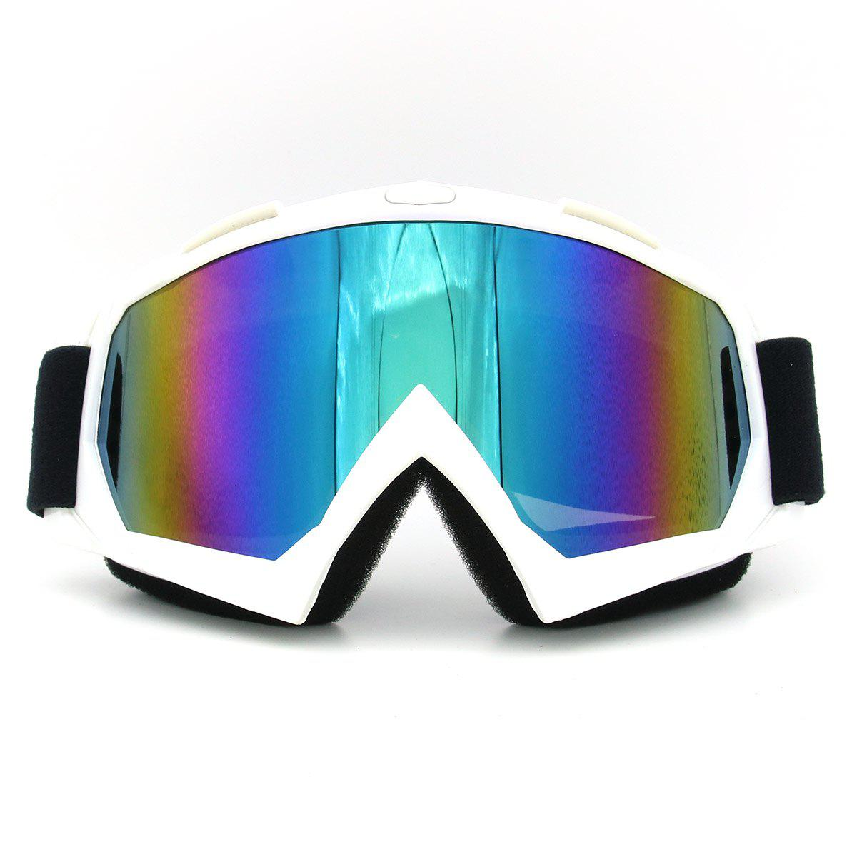 UV Protection Dustproof Off Road Riding Goggles - WHITE