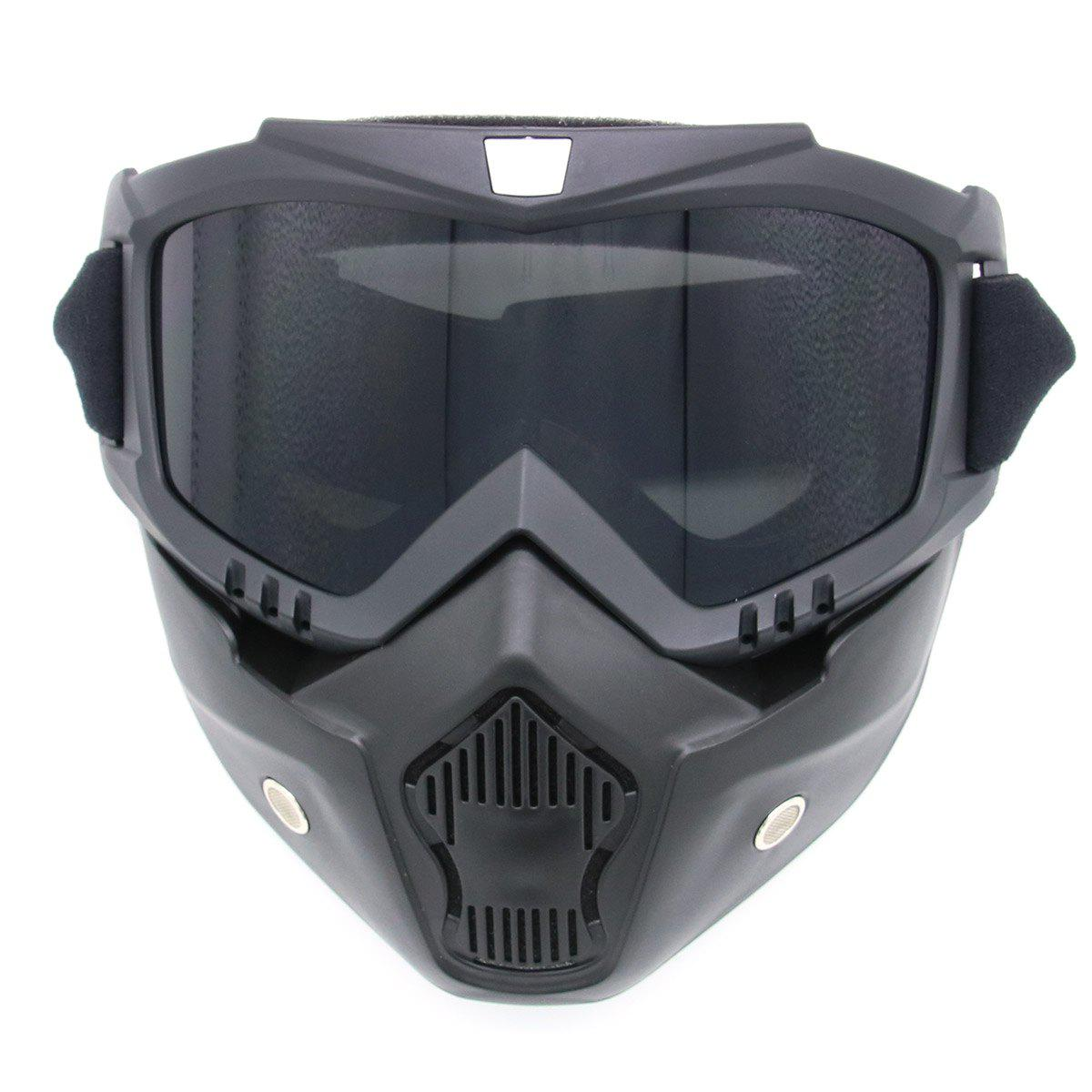 Detachable Breathable Motorcycle Goggles - GRAY