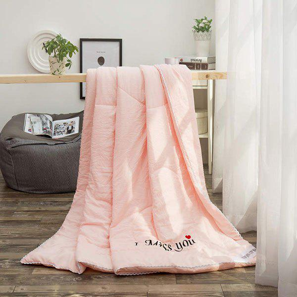100% de conditionnement de polyester I Miss You Blanket - ROSE PÂLE FULL