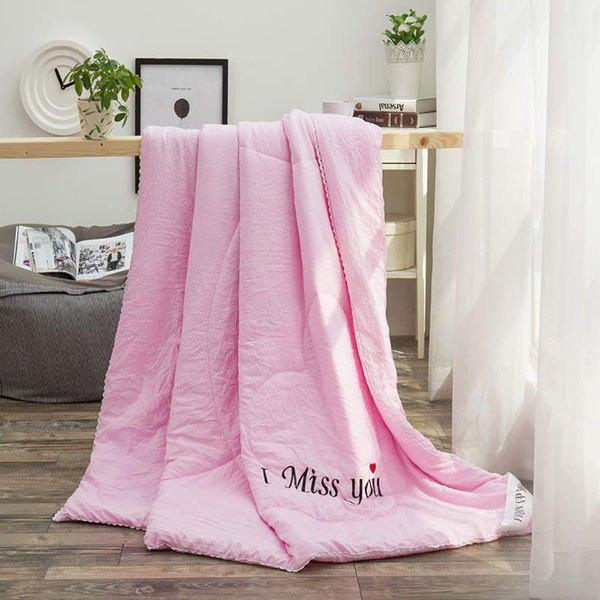 100% de conditionnement de polyester I Miss You Blanket - Violet Clair QUEEN