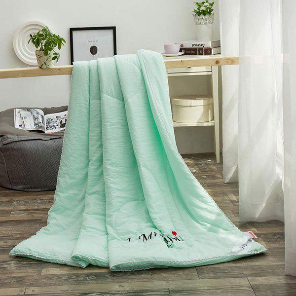 100% de conditionnement de polyester I Miss You Blanket - Vert QUEEN