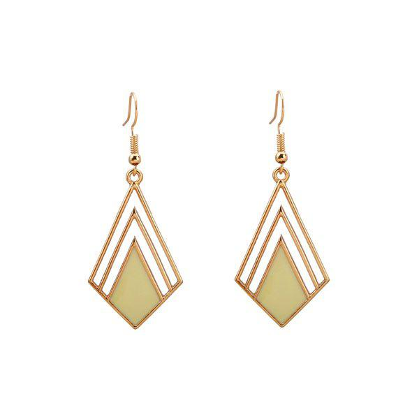 Geometric Hook Drop Earrings - GOLDEN
