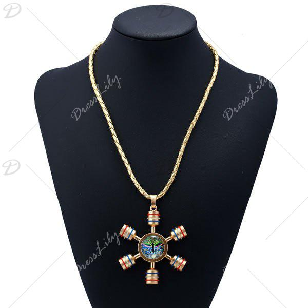 Decoration Tree of Life Fidget Spinner Necklace - GOLDEN