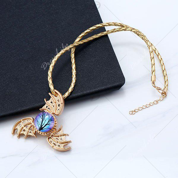 Decoration Devil Wings Fidget Spinner Necklace - GOLDEN