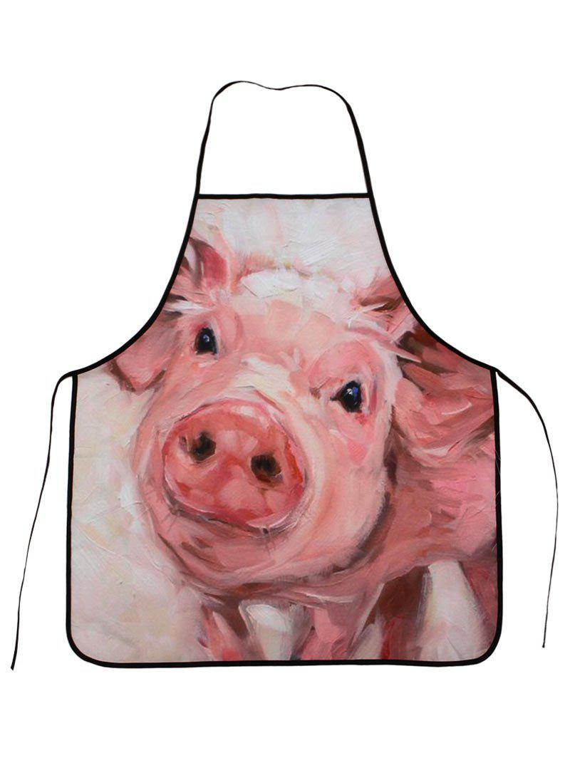 Funny Pig Cooking Oilproof Waterproof Apron - PINK 80*70CM