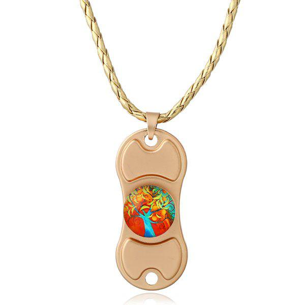Decoration Tree of Life Hand Spinner Necklace - GOLDEN