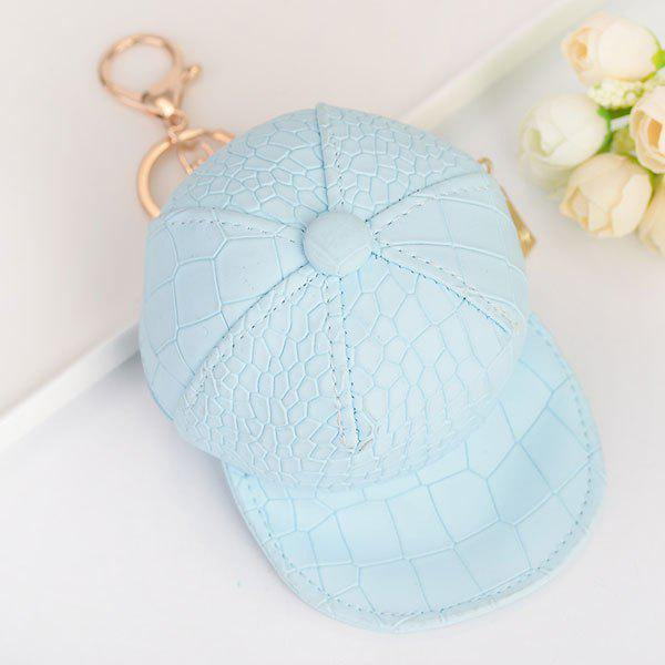 Snake Printing Baseball Hat Coin Purse Key Chain - SKY BLUE