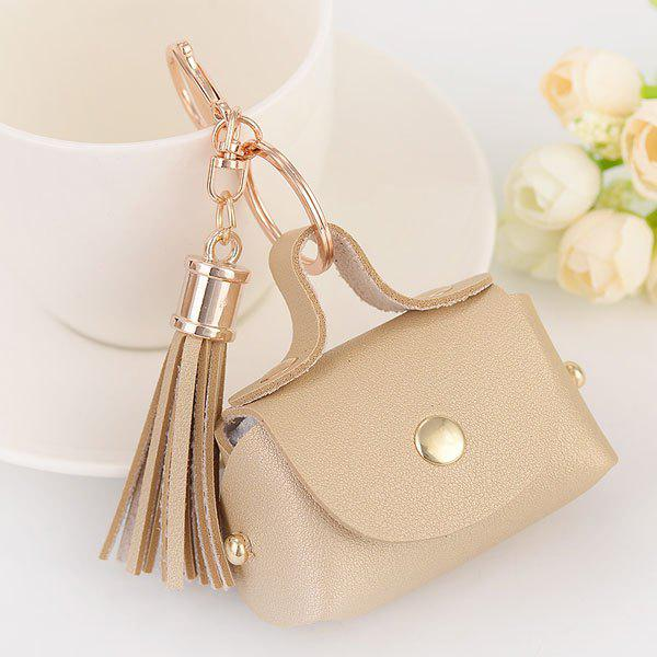 Artificial Leather Coin Purse Tassel Key Chain bosca old leather coin purse