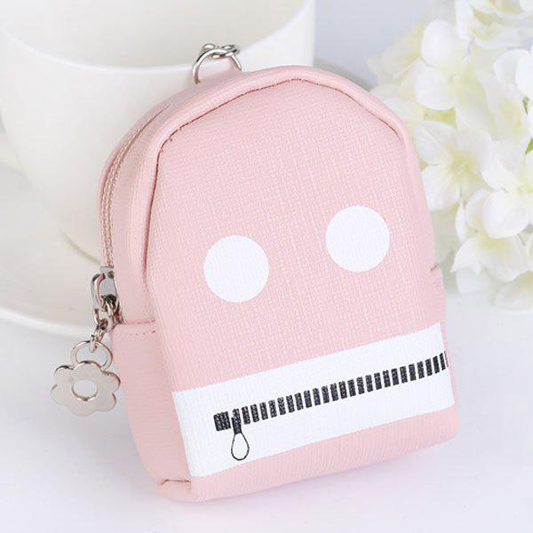 Funny Coin Purse Zipper Key Chain - PINK