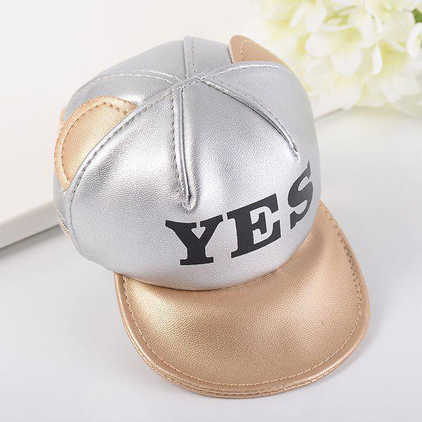 Baseball Hat Shaped Coin Purse Key Chain - SILVER