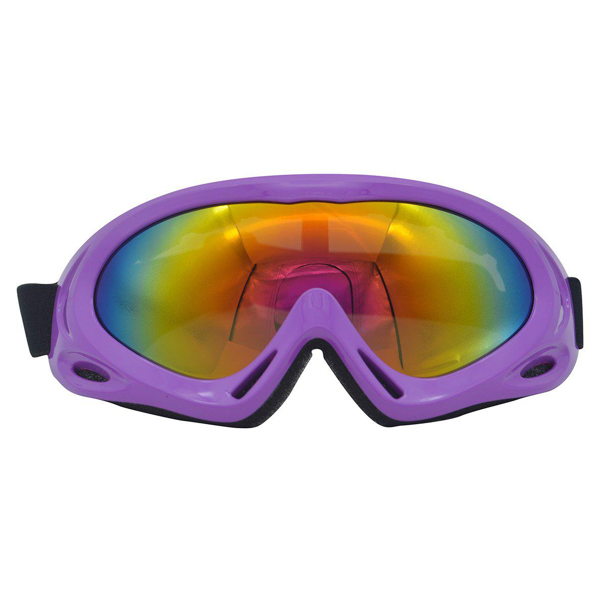 Dustproof Anti Fog UV Protection Riding Goggles - PURPLE
