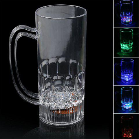 LED Colour Changing Liquid Activated Lights Medium Beer Cup - TRANSPARENT