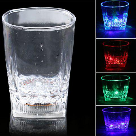 LED Flash Liquid Inductive Rainbow Color Changing Cup - Transparent
