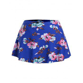 Floral Plus Size Swim Skirt