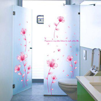 Inspiration Quote Floral Vinyl Wall Sticker