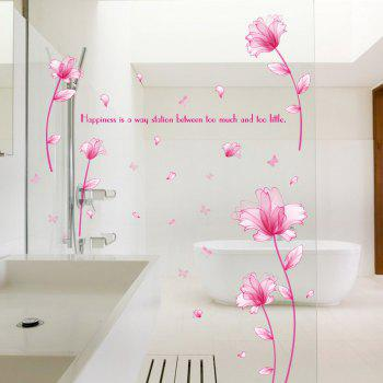 Inspiration Quote Sticker mural mural en vinyle - ROSE PÂLE 60*90CM