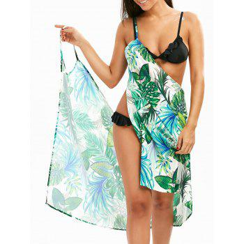 Beach Hawaii Print Cover Up Slip Dress