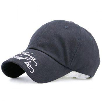 Curved Brim Baseball Hat with Letters Printing