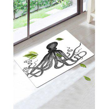 Skidproof Coral Fleece Octopus Area Rug