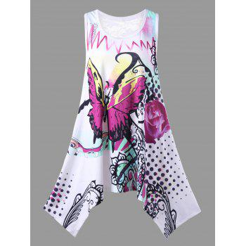 Plus Size Butterfly and Polka Dot T-Shirt