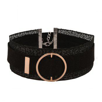 Circle Buckle Layered Choker