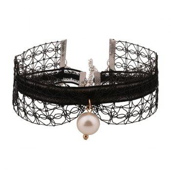 Faux Pearl Lace Layered Choker