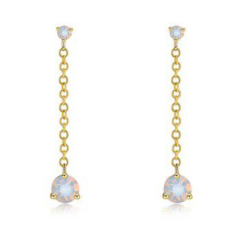 Faux Crystal Link Chain Drop Earrings