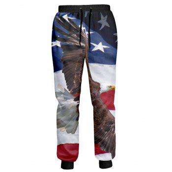 Eagle American Flag Printed Patriotic Jogger Pants