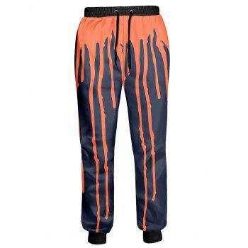 Splashed Paint Lace Up Jogger Pants